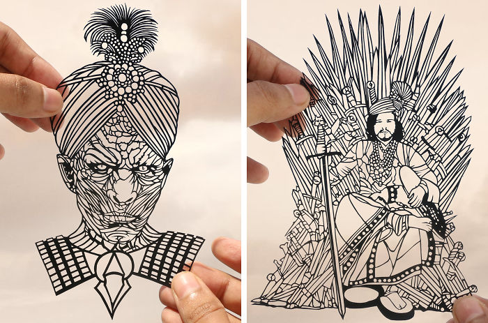 I Portray Indian Game Of Thrones Through Papercuts