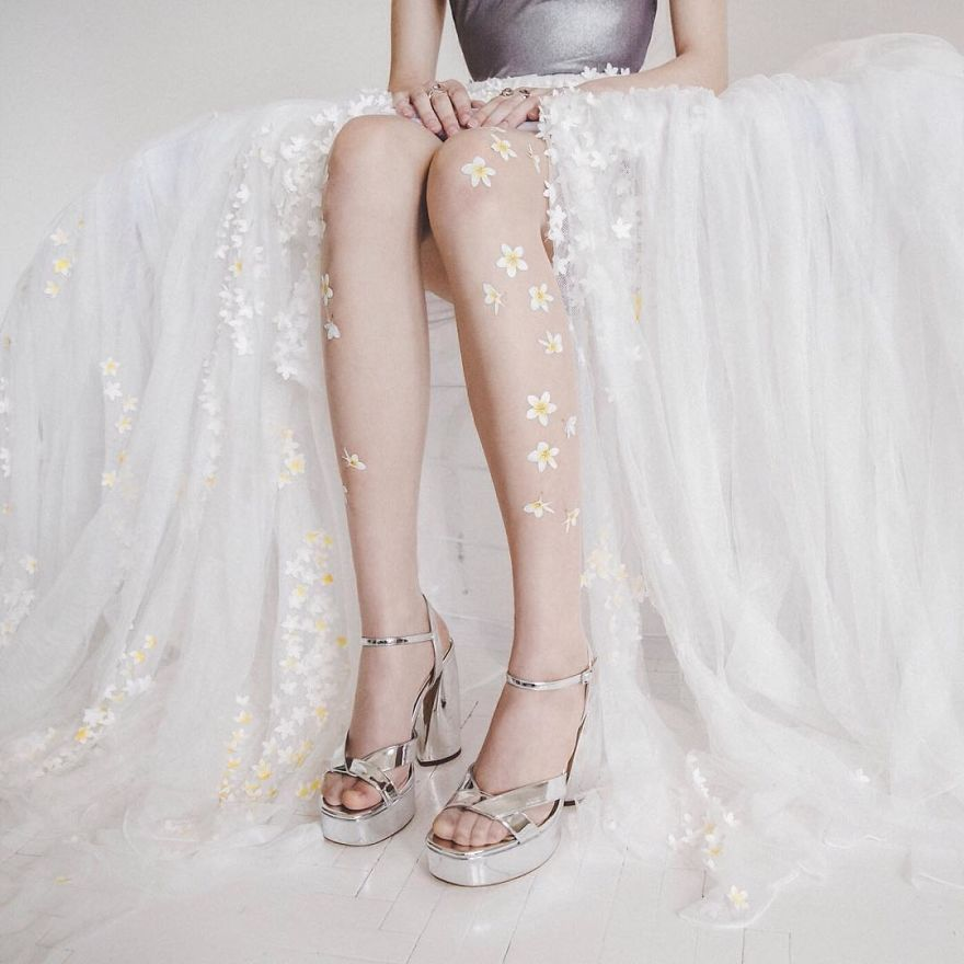 I Designed These Floral Tights That Will Make You Look Like A Fairy