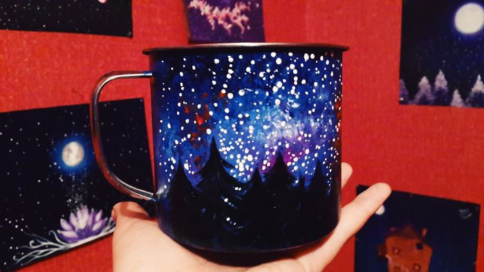 These Magical Hand Painted Mugs Will Decorate Your Camping Trip Wherever You Go