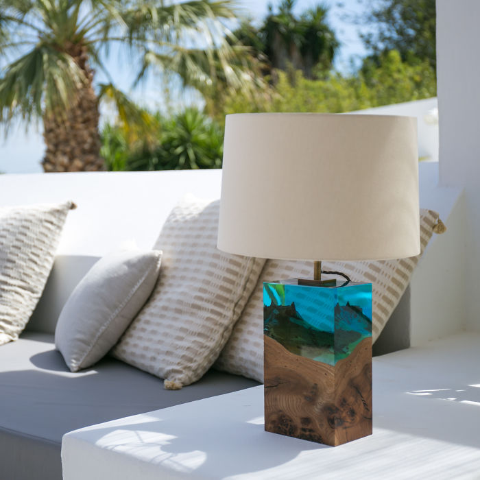 Iluka London Seamlessly Fuses Wood With Acrylic To Create A Stunning Collection Of Modern Table Lamps