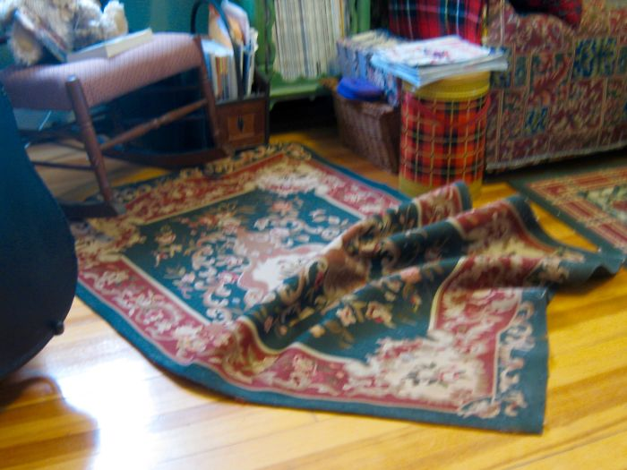Surf's Up!! Evidence Of Rug Surfing!!