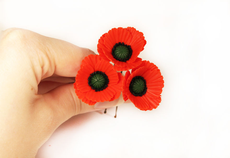 Poppy Hair Pins