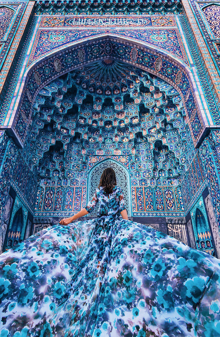 Cathedral Mosque In St. Petersburg, Russia. Model: Aygul