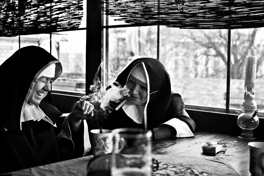 Nuns Getting High, From Satirical Project 'Life Is Good'