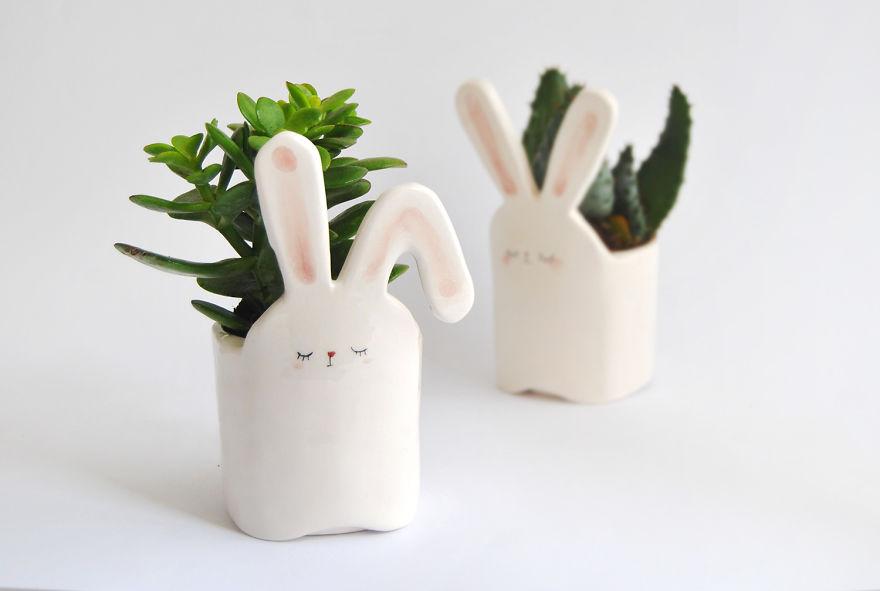 White Rabbit Planter