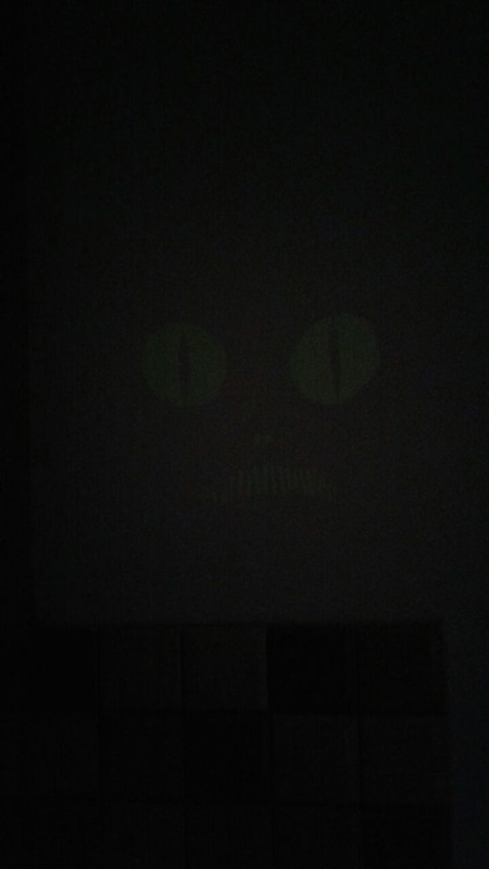 Using Lighted Adhesive In Darkness To Form A Hiden Monster's Face In The Kitchen At My Workplace...........................i'am So Evil