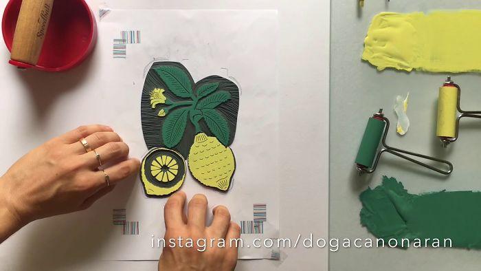 Sicilian Cedro Hand Printing By Dogacan Onaran