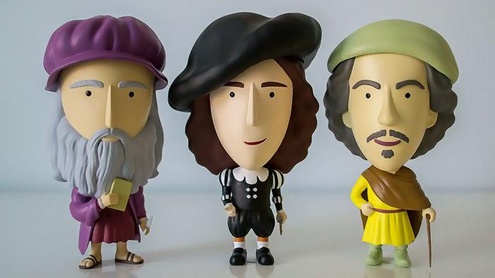 Da Vinci, Vermeer And Rembrandt Turned Into Charming Action Figures