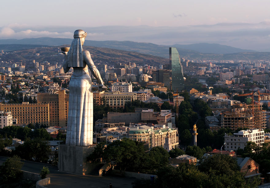 Mother Georgia Above Tbilisi, The Nation's Capital
