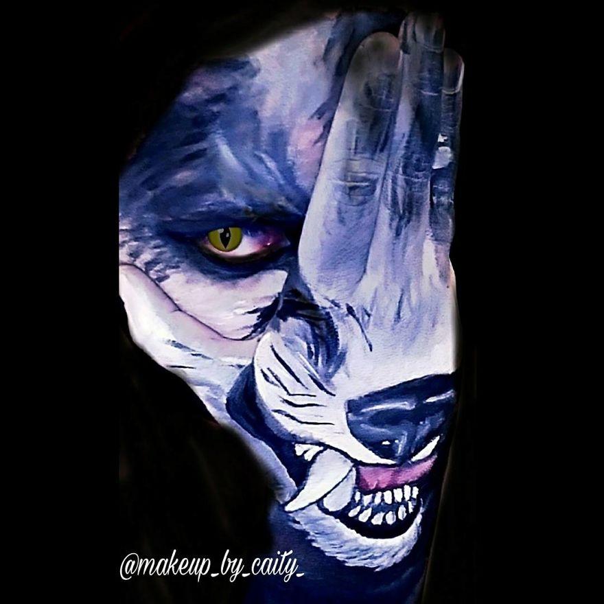 Wolf Hand/face Makeup