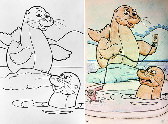 10+ Times Adults Did Coloring Books For Kids, And The Result Was Hilariously NSFW