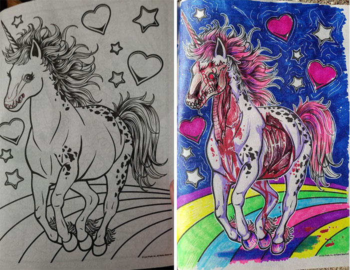 This Is What Happens When Adults Color Drawings For Children