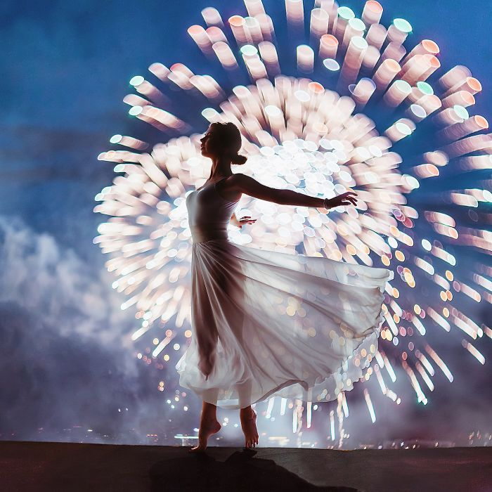 Moscow Firework Festival, Russia. Model: Nina