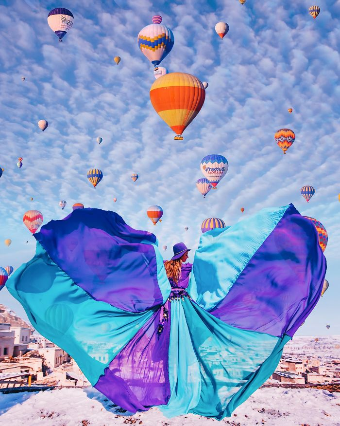 Capadocia, Turquía. Modelo: Nina