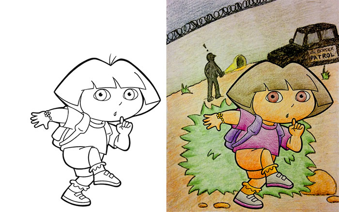 this is what happens when adults color drawings for children - Color Books