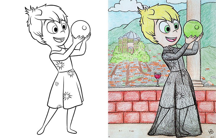47 Times Adults Did Coloring Books For Kids, And The Result Was ...