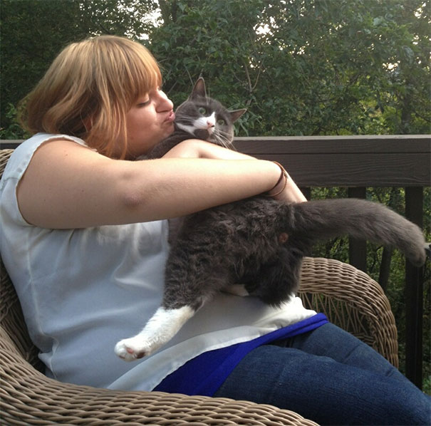 My Moms Cat Does Not Like Kisses