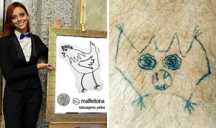 This Brazilian Tattoo Artist Is Horrible At Drawing, But People Still Pay Her To Get Inked (41 Pics)