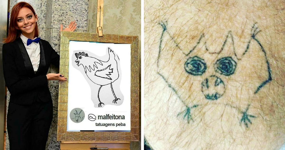 This Brazilian Tattoo Artist Is Horrible At Drawing, But People Still Pay Her To Get Inked (15+ Pics)