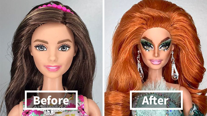 This Artist Turned Barbie Dolls Into Drag Queens From RuPaul's Drag Race