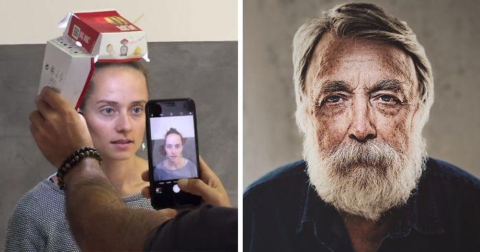 Este Hombre Utilizó Una Caja de McDonald's Y Un iPhone Para Hacer Estos Retratos, Y Los Resultados Te Sorprenderán