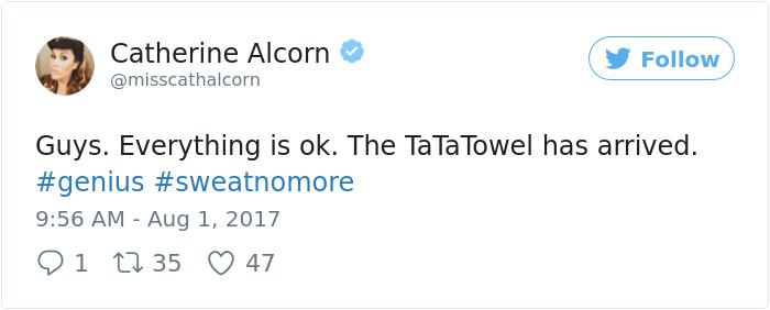Ta-Ta Towels For Boobs Are A Thing Now, And It's A Woman's Dream Come True