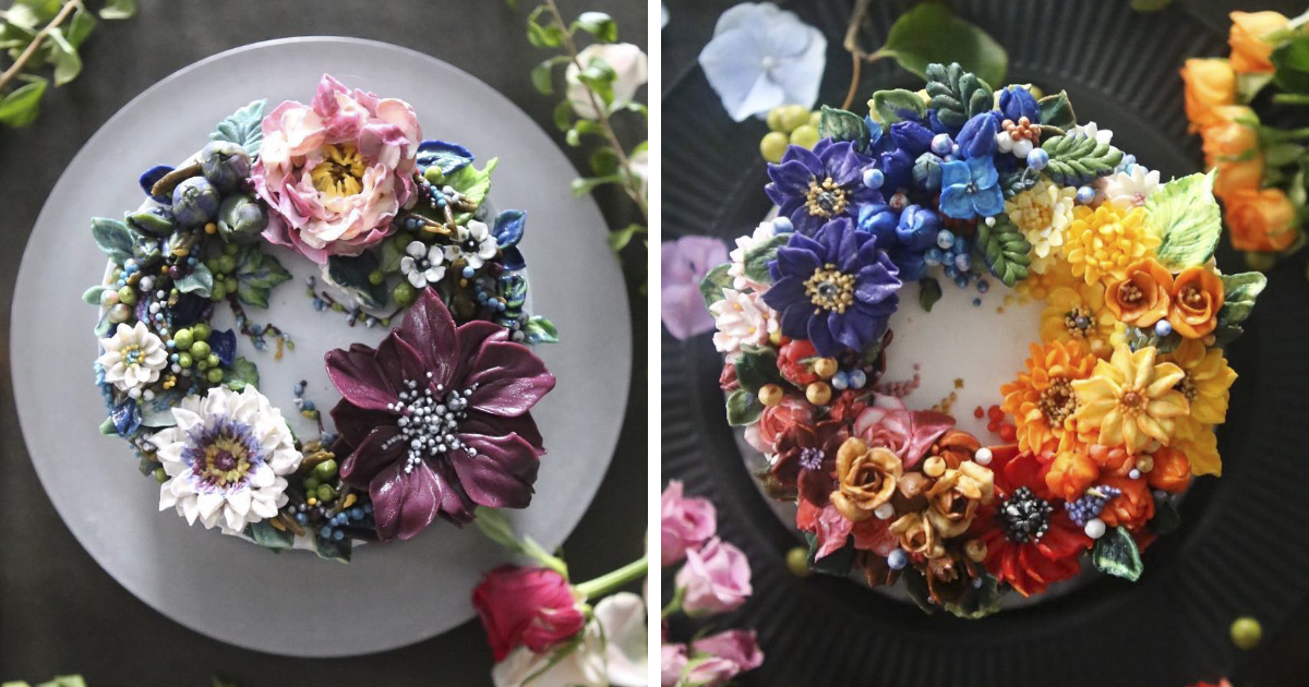 Buttercream Floral Cakes That Look Too Beautiful To Eat