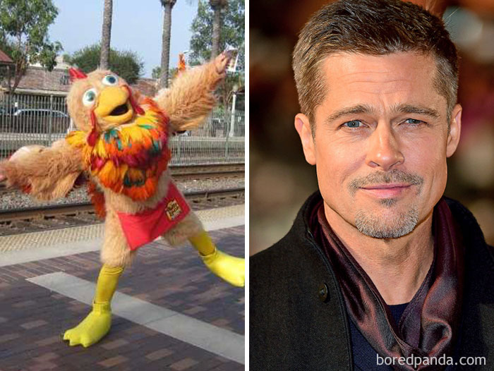 Brad Pitt Used To Dress Up As A Chicken For An El Pollo Loco Restaurant In Hollywood