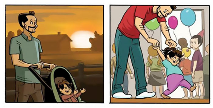 «Θα έχουν μεγαλώσει χωρίς να το καταλάβουμε» – ένα σκίτσο που συγκινεί - εικόνα 2