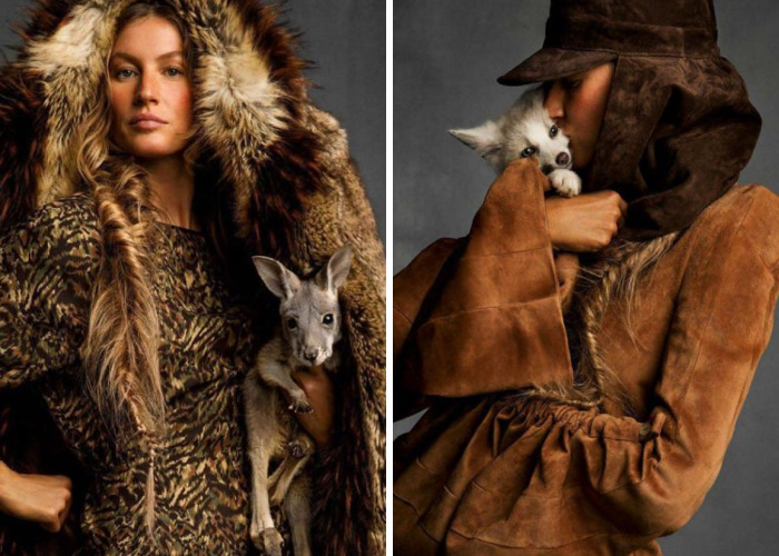 Gisele Bündchen And A Baby Kangaroo Cover 'Vogue' Paris's Faux Fur-Heavy Animals Issue