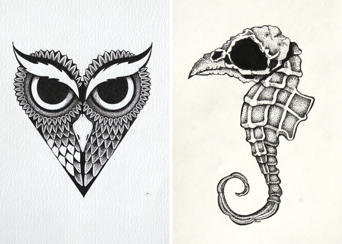 I Create Intricate Pen And Ink Drawings
