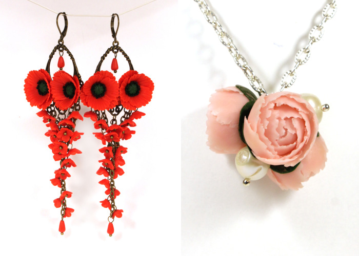 I Create Beautiful Bright Jewelry With Polymer Clay Flowers