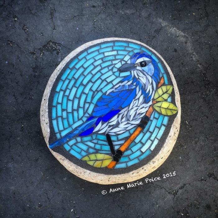 I Create Mosaics On Stone For My Garden