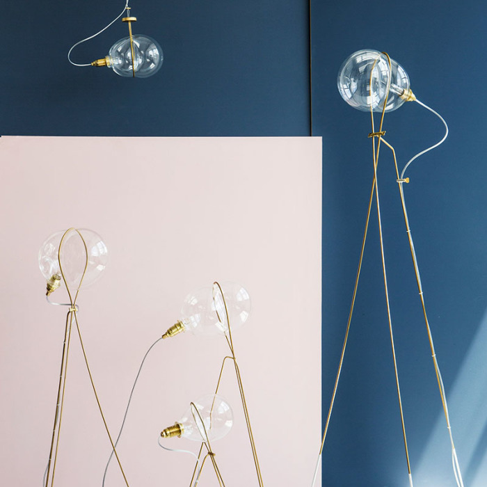 The Stress Lighting Collection That Takes Inspiration From The Shape Of A Bubble Being Blown Through A Ring