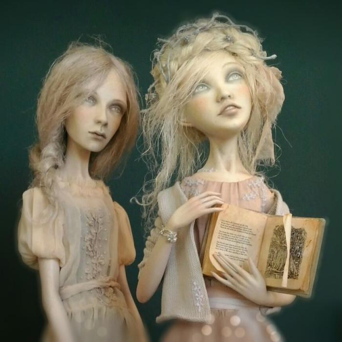 Early Frosts: Art Dolls Vera, Nadia And Lyuba By Anna Zueva