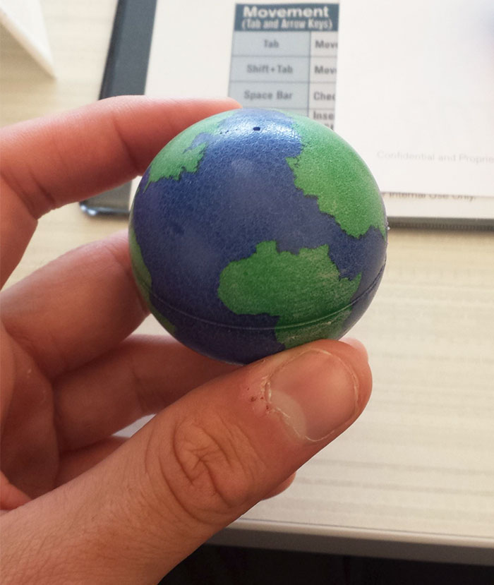 This Globe Doesn't Have Europe On It