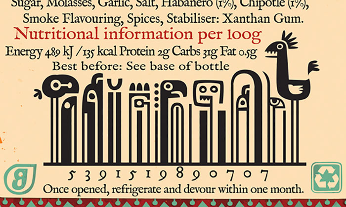 Inca Inspired Illustrated Barcode