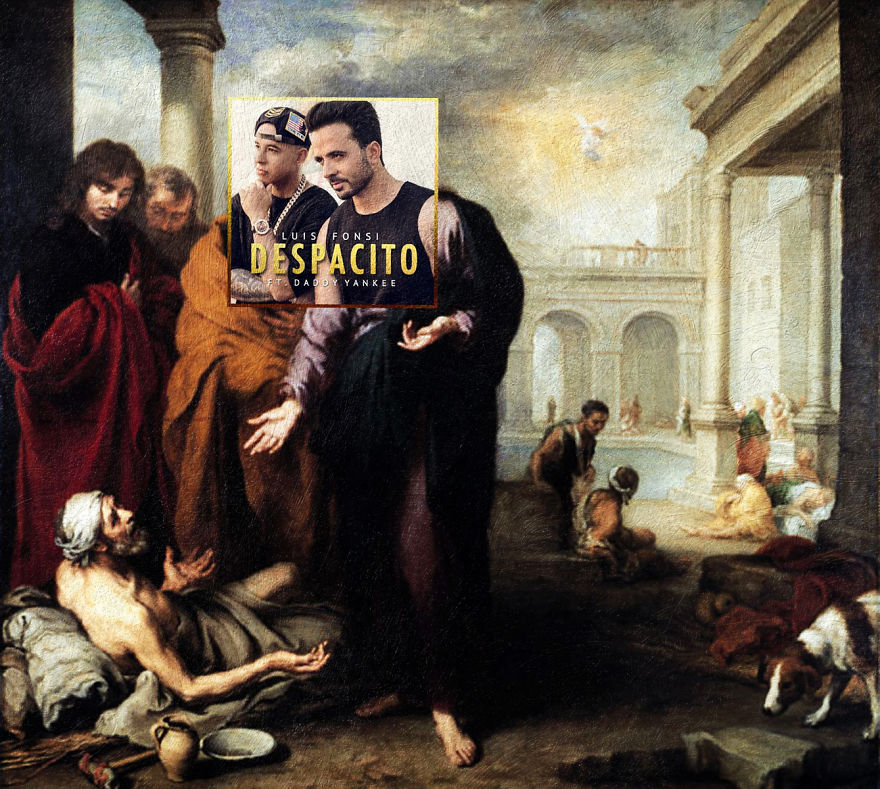 Despacito By Luis Fonsi Featuring Daddy Yankee + Christ Healing A Paralytic At The Pool Of Bethesda By Bartolome Esteban Murillo