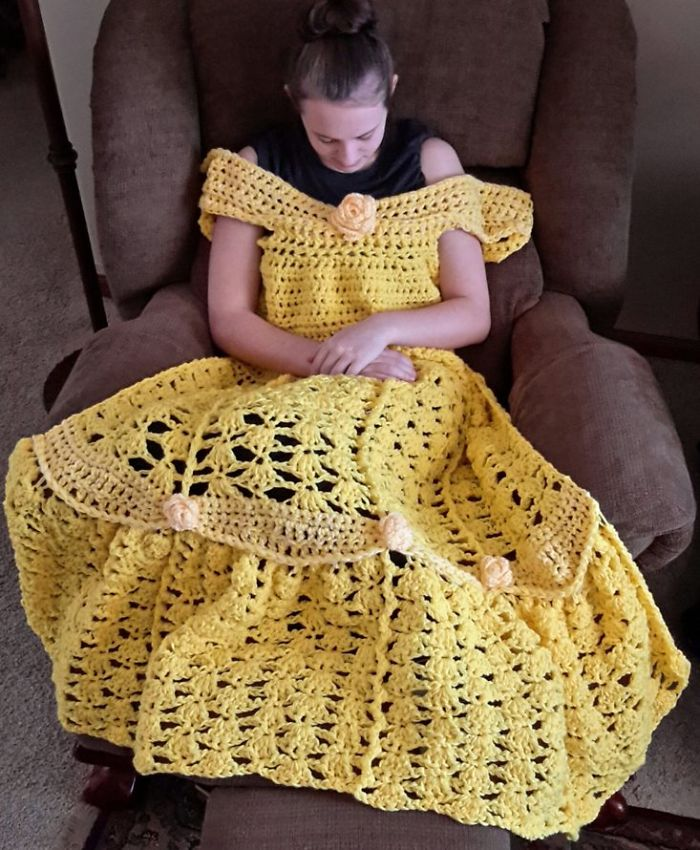 these princess dress blankets are here to make your naps magical