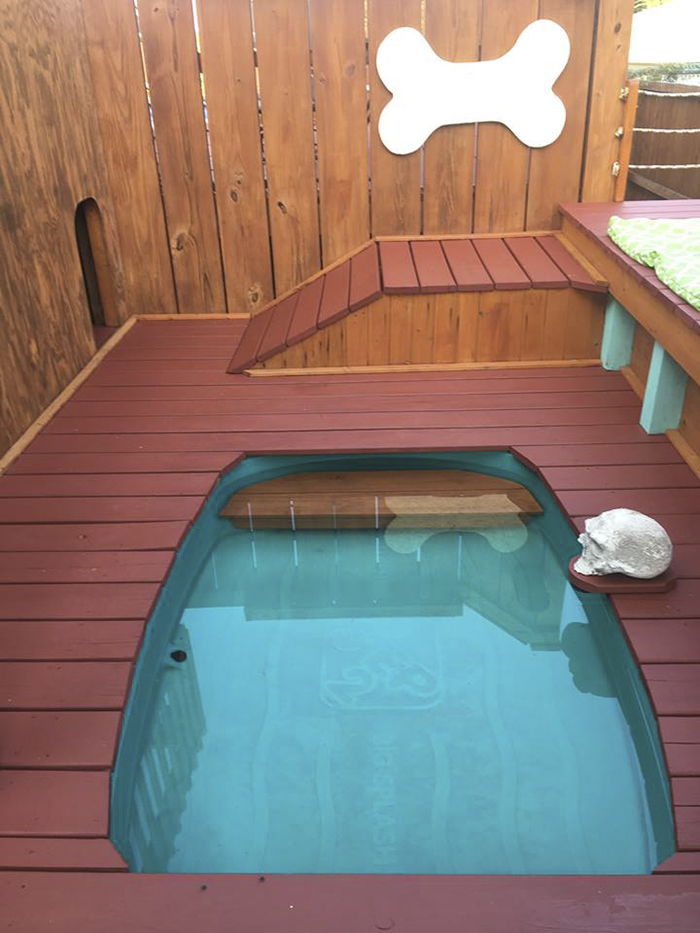 Today, the playground has three layers, lots of fun things to do, and even  a pirate-themed pool - Dog Owner Transforms His Backyard Into A Large Playground With
