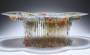"""Jellyfish"" Glass Tables With Dripping Tentacles That Look Like They've Been Created By The Sea"