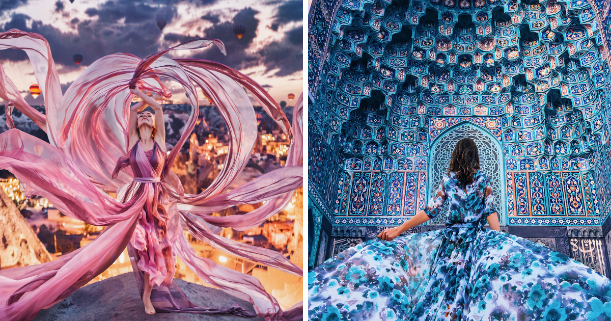 Gorgeous Photos Of Womens Gowns, And Beautiful Places - cover