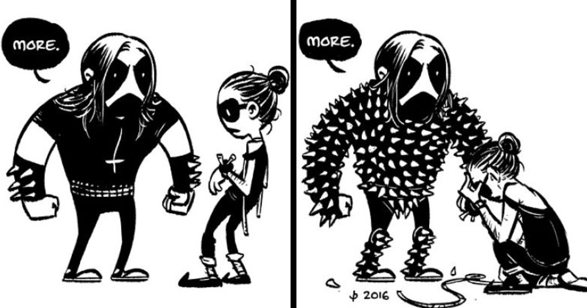 10 adorable black metal comics thatll satisfy your dark side bored panda