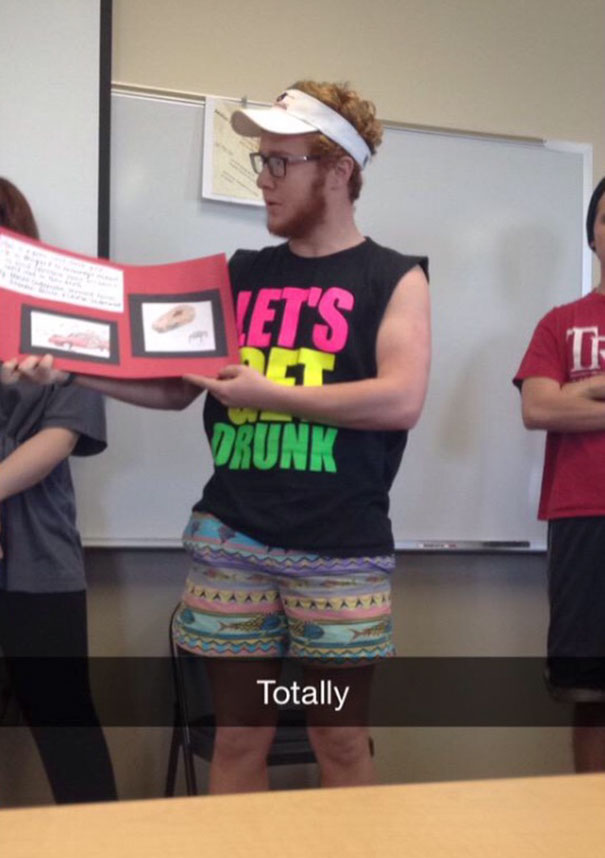 When You Forget You Have To Present An Art Project About Drinking And Driving