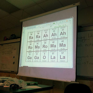 At Least My Chemistry Teacher Has A Sense Of Humor
