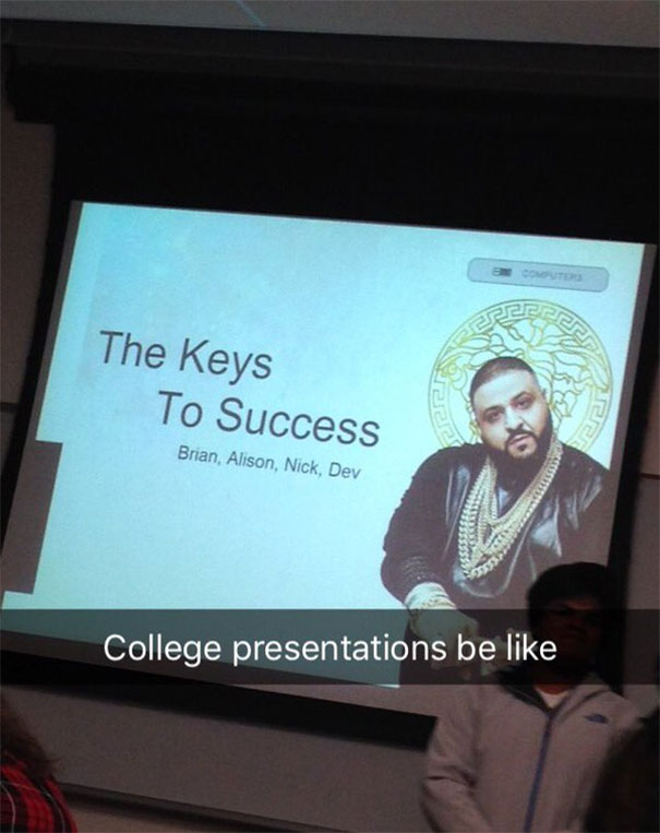 And The Award For Best Presentation Goes To