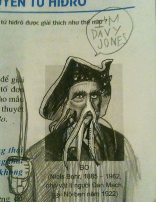 Funny Textbook Drawing