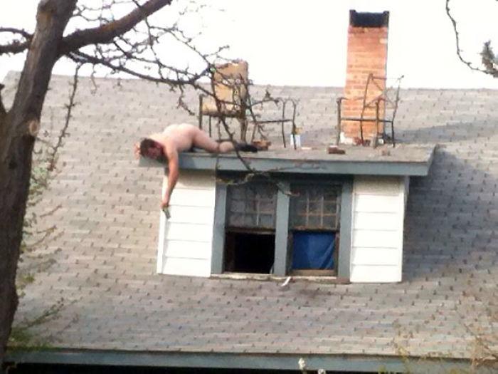 Creo que el vecino está borracho