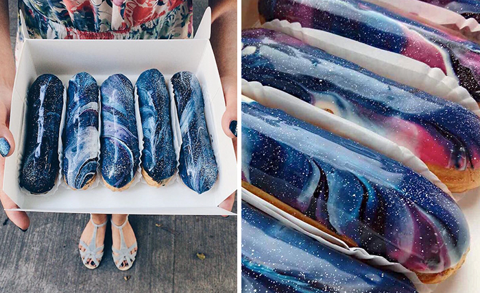 Ukrainian Bakery Creates Galaxy Eclairs That Look Too Good To Eat