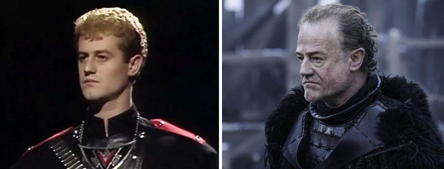 """Owen Teale As Maldak (in 1985's Doctor Who : """"vengeance On Varos"""") And As Alliser Thorne (in Got)"""
